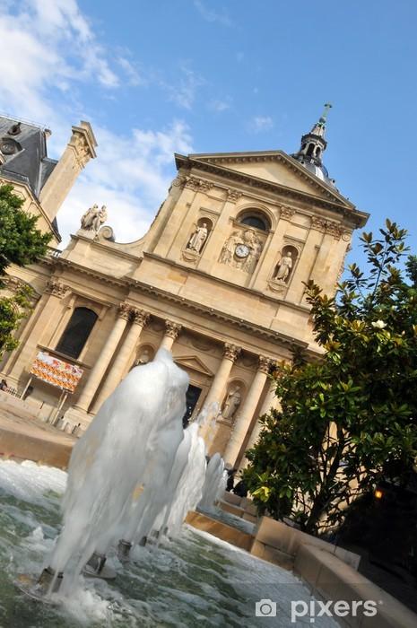 Papier peint vinyle Place de la Sorbonne - Paris - Villes européennes