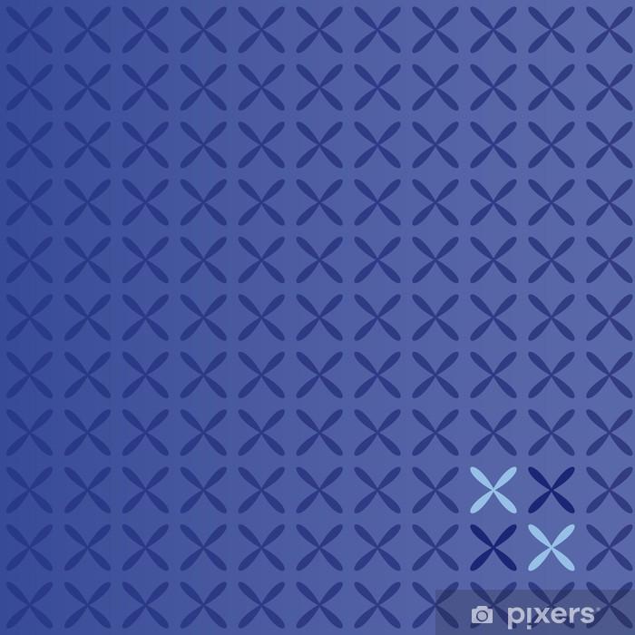 Naklejka Pixerstick Blue Floral Background - Tła