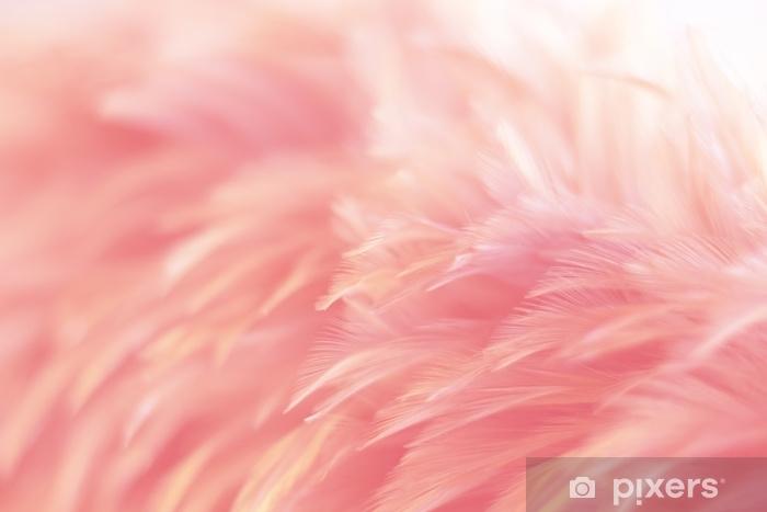 Vinil Duvar Resmi Arka plan, fantezi, soyut, yumuşak renk sanat tasarımı için kuş tavuk tüy doku bulanıklığı. - Grafik kaynakları