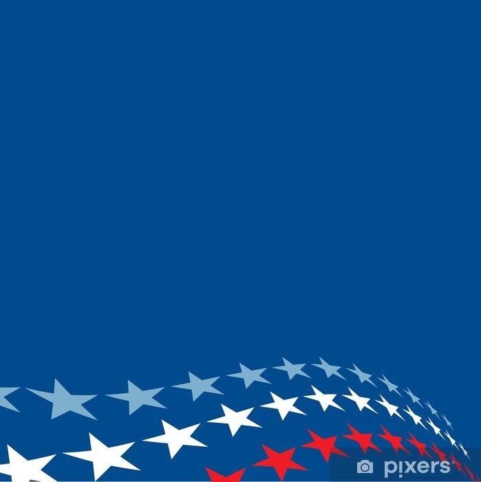 Papier peint vinyle Patriotique Stars Background - Arrière plans