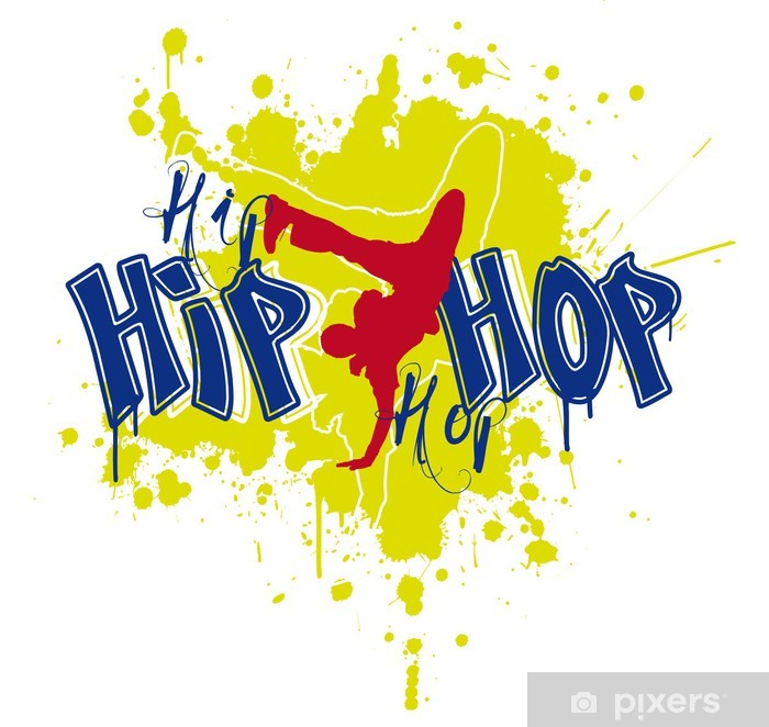 Hip Hop Dancer Vinyl Wall Mural - Hip Hop