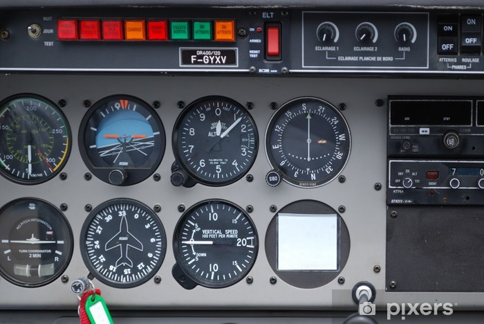 Sticker Instruments De Bord Cockpit Avion Pixers Nous Vivons Pour Changer