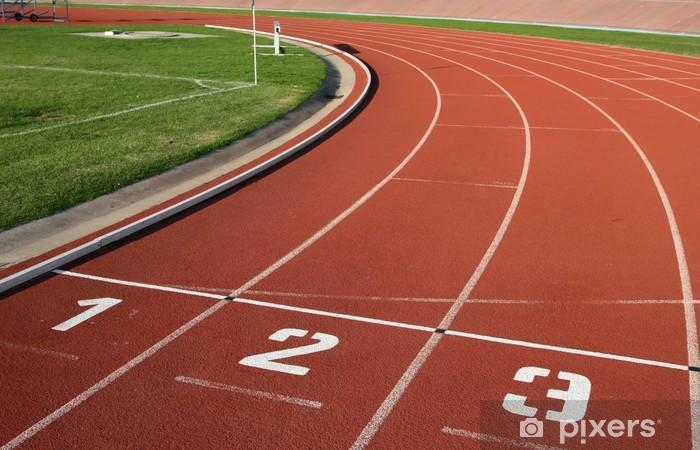 Naklejka Pixerstick Athlectics Śledzenie numerów Lane - Sporty indywidualne