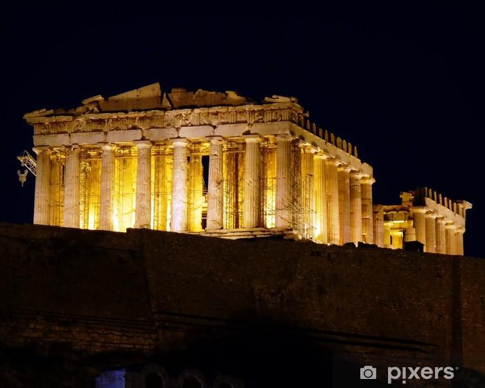 Fotomural Estándar Acrópolis de Atenas Parthenon por noche - Temas