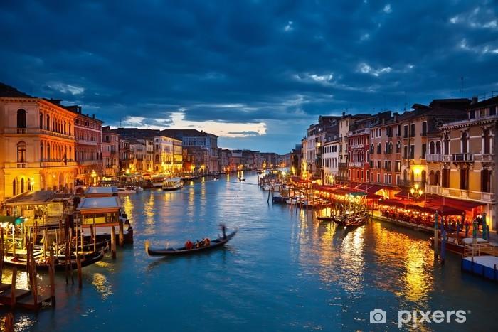 Sticker pour table et bureau Grand Canal pendant la nuit, Venise -