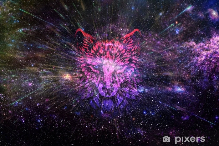 stickers artistic abstract digital wolf into a dark theme smooth galaxy background.jpg