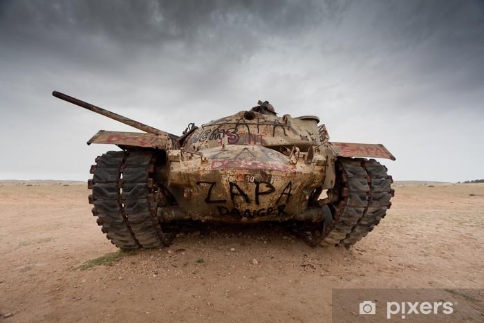 Sticker Pixerstick Abandonné char d'assaut - Thèmes