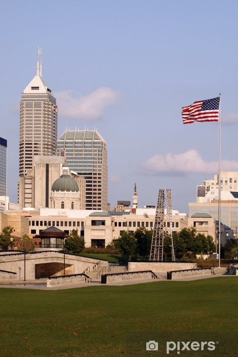 Vinyl-Fototapete Indianapolis Skyline. - Amerika