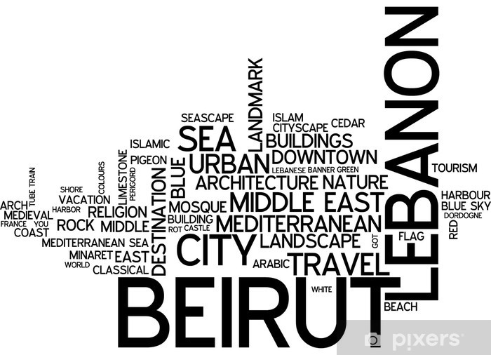 Beirut (Lebanon) Pixerstick Sticker - The Middle East