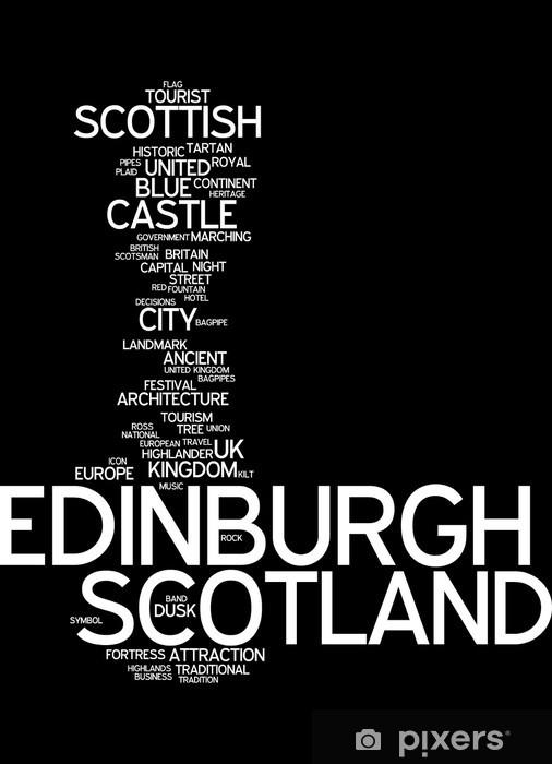 Naklejka Pixerstick Edinburgh (Szkocja) - Typography - Tematy