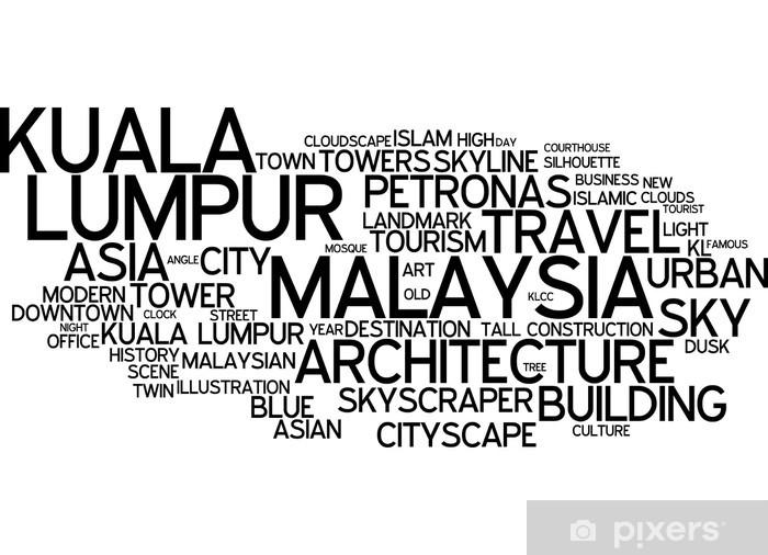Kaststicker Kuala lumpur malaysia - Azië