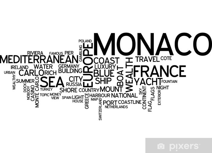 Papier peint vinyle Monaco, Monte-Carlo - Europe