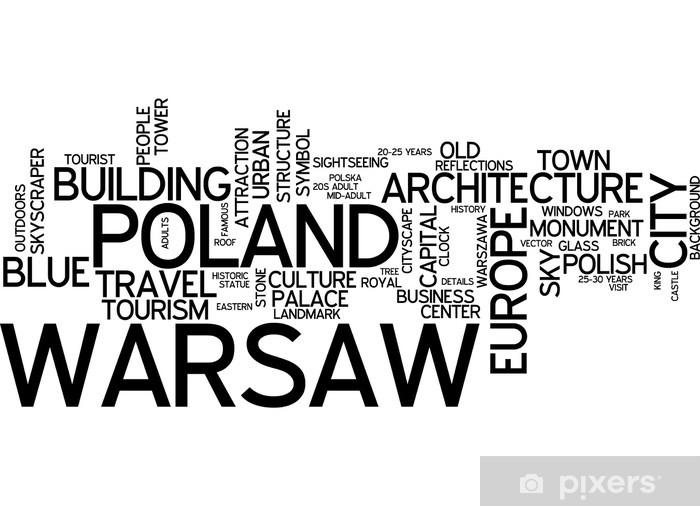 Vinyl-Fototapete Warschau - Themen