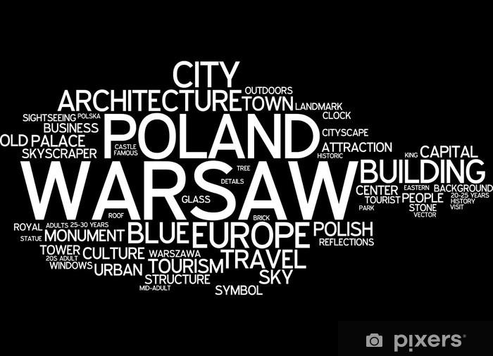 Fototapeta winylowa Warszawa - Tematy