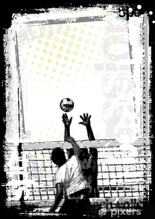 Vinilo Pixerstick Dirty beach volley cartel 2 - Voleibol