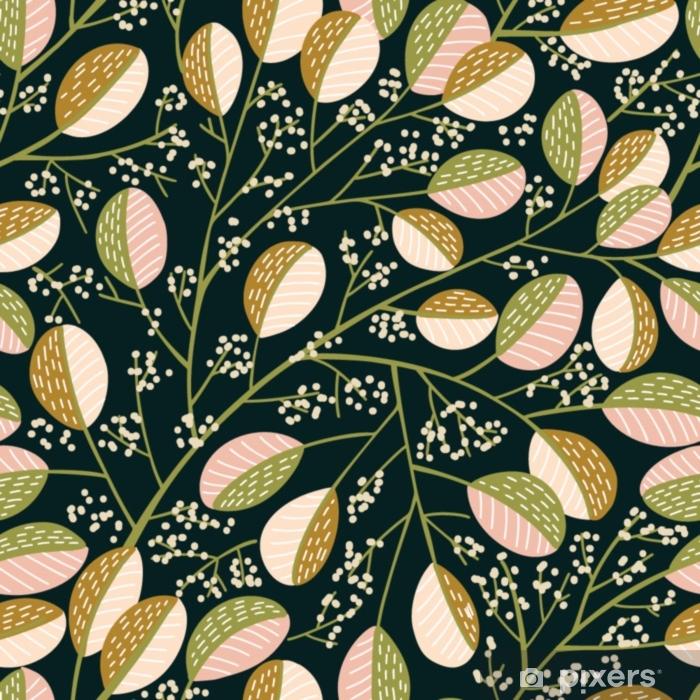 Pixerstick Sticker Naadloze lente boom patroon - Bloemen en Planten