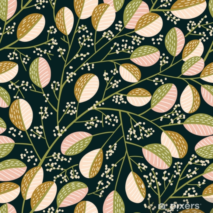 Seamless Spring tree pattern Pixerstick Sticker - Plants and Flowers