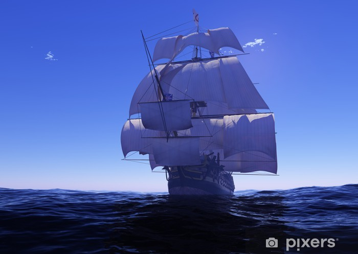 Papier peint vinyle Le bateau antique - Bateaux
