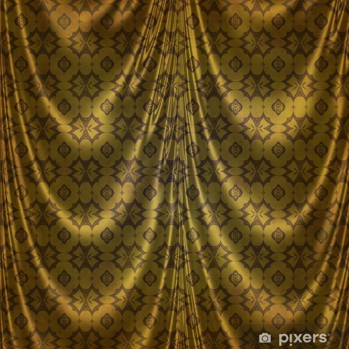 fotobehang gouden oosterse klassiek ontwerp op stof gordijnen vinyl