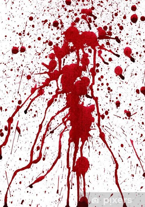Sticker pour porte Éclaboussures sanglantes -