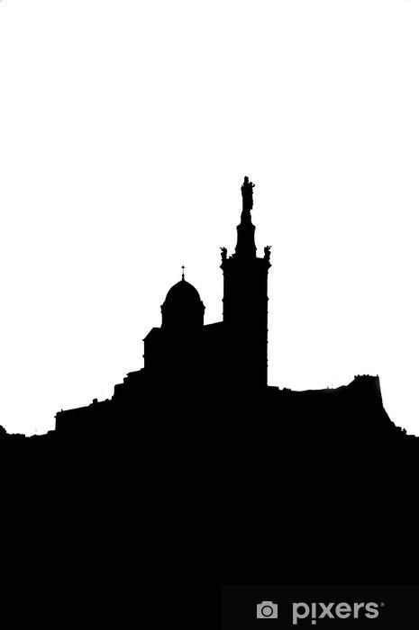 Pixerstick Sticker Marseille, de Notre Dame de la Garde - Vakantie