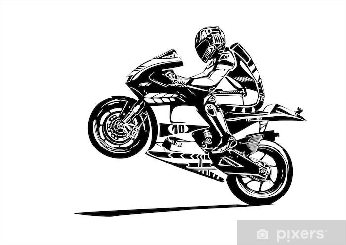 moto gp wheelie Pixerstick Sticker - Wall decals