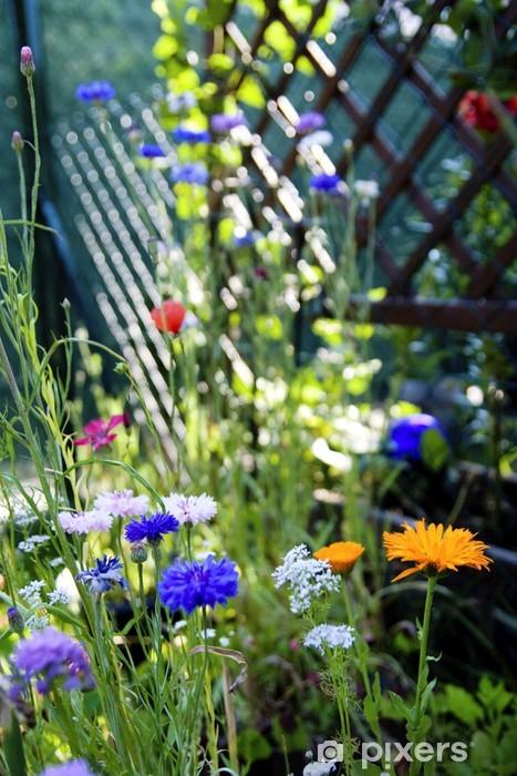 Vinyl-Fototapete Erholungsraum eigener Garten - Haus und Garten