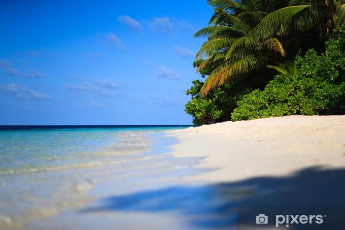 Tropical Paradise at Maldives Pixerstick Sticker - Holidays