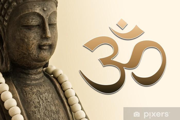 ZEN Buddha mit Mala-Kette und OM Zeichen Vinyl Wall Mural - Themes