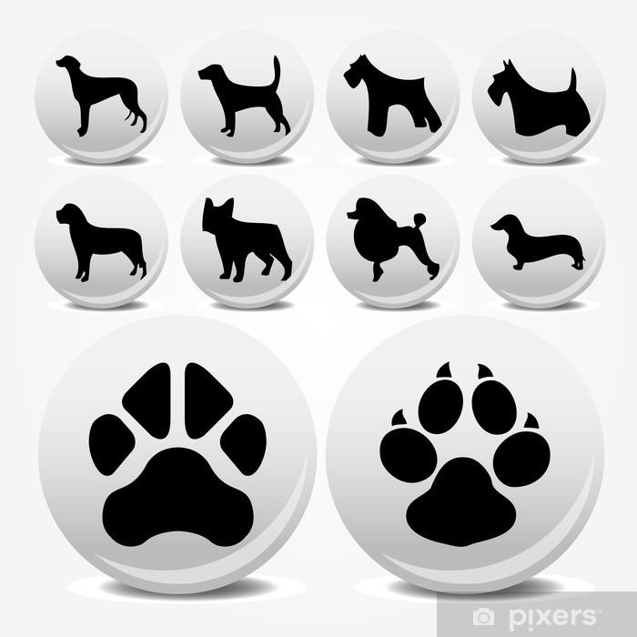 Fototapeta winylowa Psy kolekcja ikon wektorowych i ślady - Koncepcje biznesowe