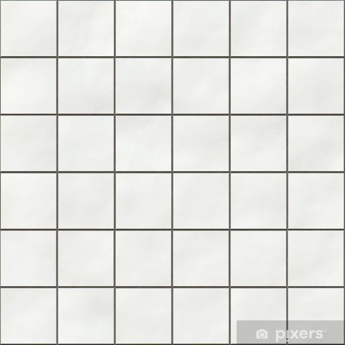Seamless White Square Tiles Texture Wall Mural Pixers