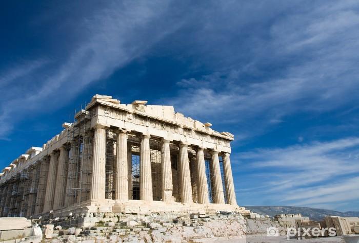 Fototapeta winylowa Starożytny Partenon na Akropolu w Atenach Grecji na błękitne niebo backgro - Tematy