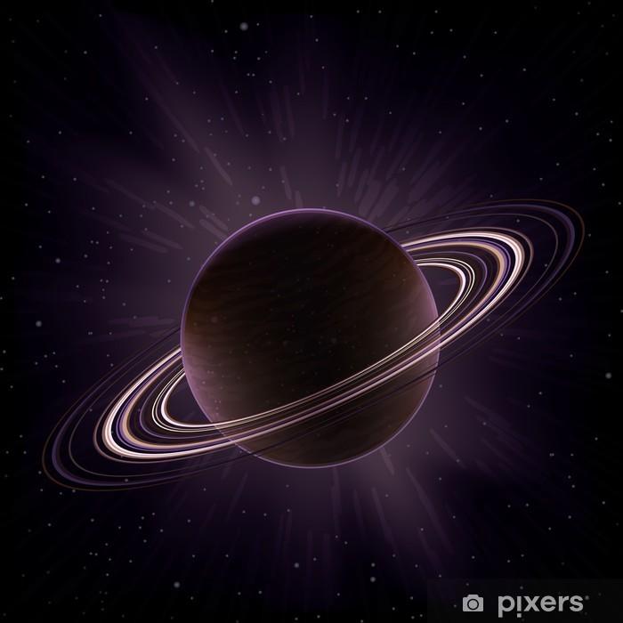 Papier peint vinyle Planète gazeuse géante Vecteur entourée par des anneaux comme Saturne () - Planètes