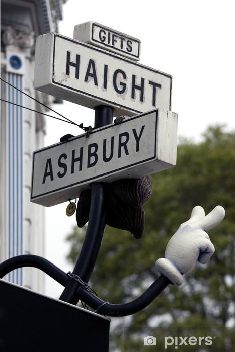 Sticker Pixerstick Haight rue symbole à San Francisco - Villes américaines