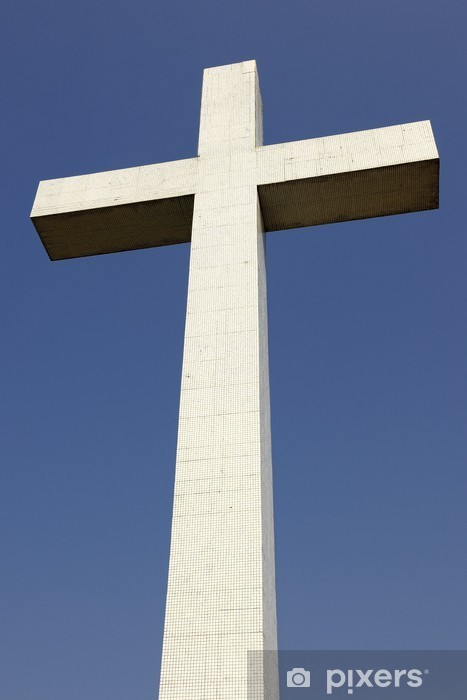 Papier peint vinyle Croix du Mémorial ADEIF sur le Mont National, Obernai - Monuments
