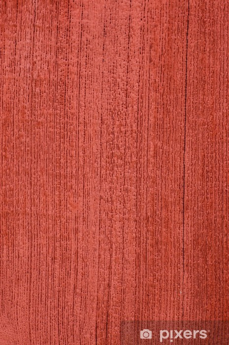 Abstract Background Texture Of Red Stained Wood Vinyl Wall Mural Heavy Industry