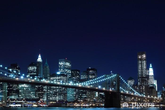 Cameretta A Ponte Auchan.Adesivo Ponte Di Brooklyn E Skyline Di Manhattan Di Notte New