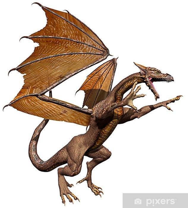 Fotomural Estándar Ataque del dragón - Vinilo para pared