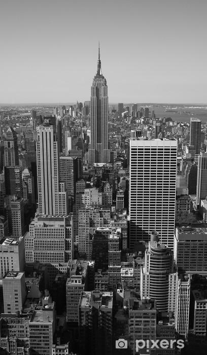 Papier peint vinyle New York City Panorama noir et blanc -