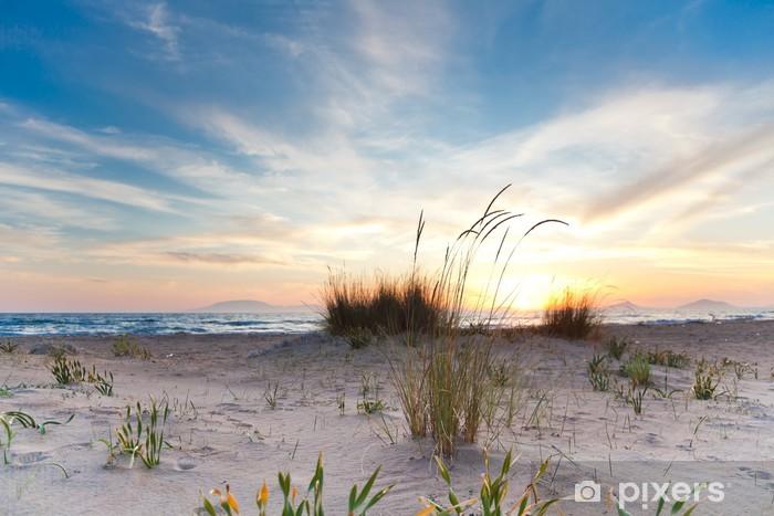Fototapeta winylowa Zachód słońca na plaży Kalogria - Europa