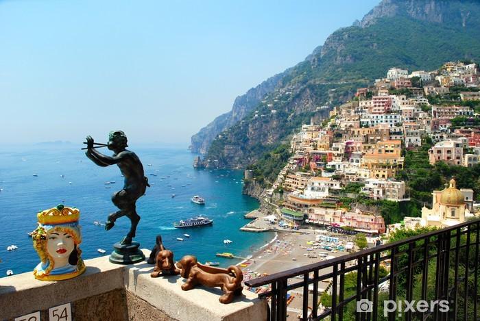Positano panorama estate 2010 Italia Pixerstick Sticker - Holidays