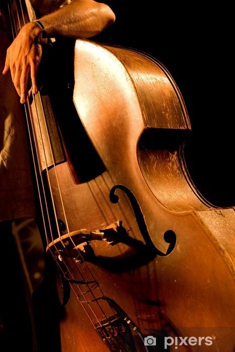 Fototapeta winylowa Hand of muzyk na kontrabas na koncert - Muzyka