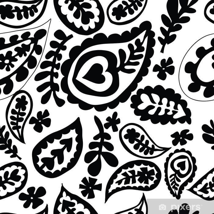 Naklejka Pixerstick Powtarzalne kwiatowy wzór - Tekstury