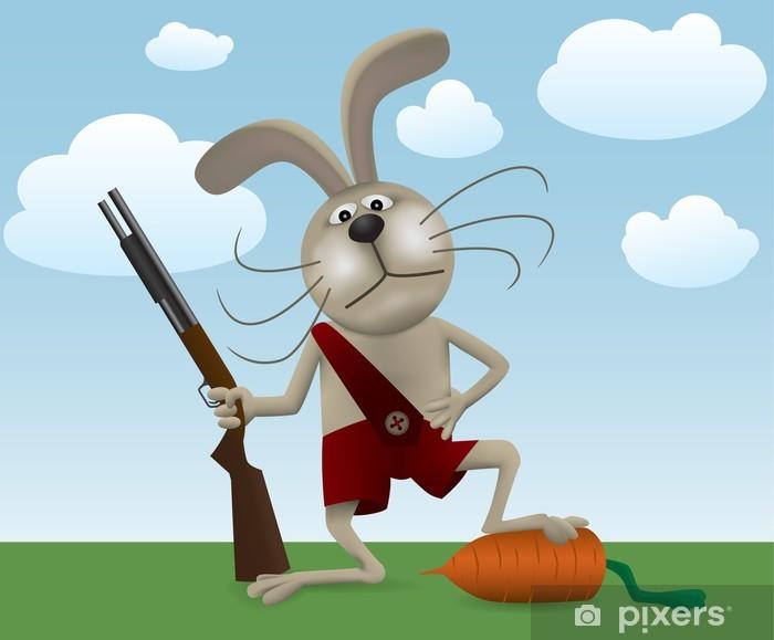 картинка злой заяц с двумя стволами