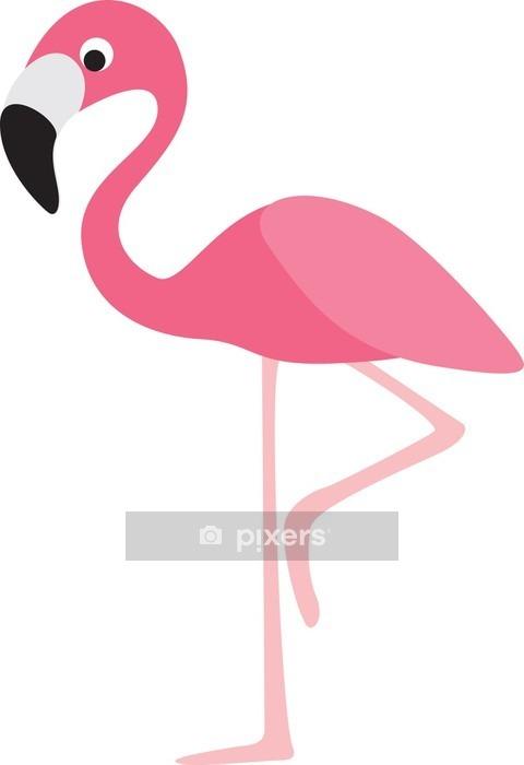 Wandtattoo flamingo karikatur pixers wir leben um zu - Flamingo wandtattoo ...