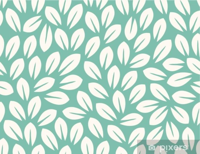 Vinilo para Cristal y Ventana Patrón de hojas. fondo sin fin sin costura - Plantas y flores
