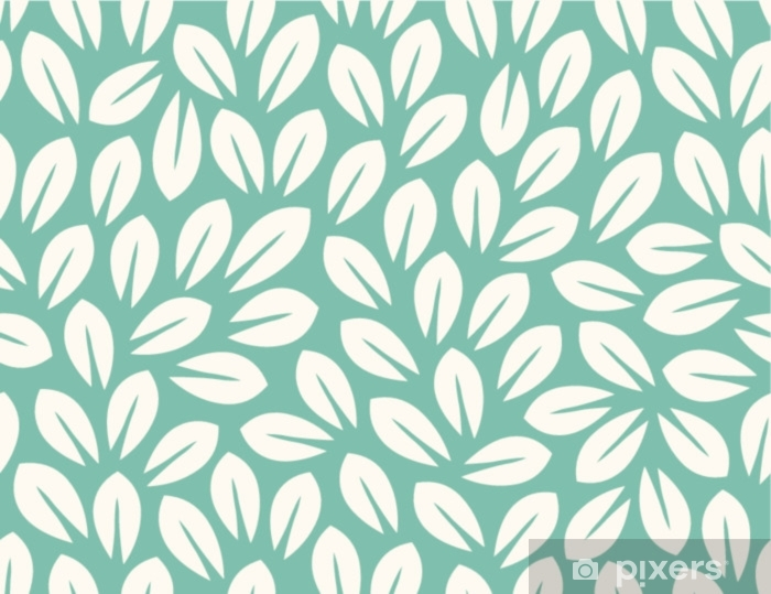 Leaves Pattern. Endless Background. Seamless Window & Glass Sticker - Plants and Flowers