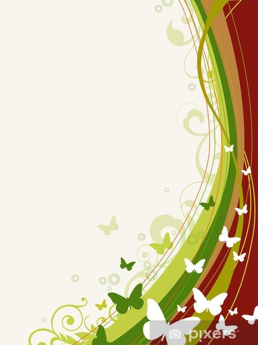 Pixerstick Aufkleber Floral background - Themen
