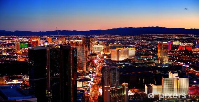 Vinilo Pixerstick Las Vegas City skyline panorama - Las Vegas