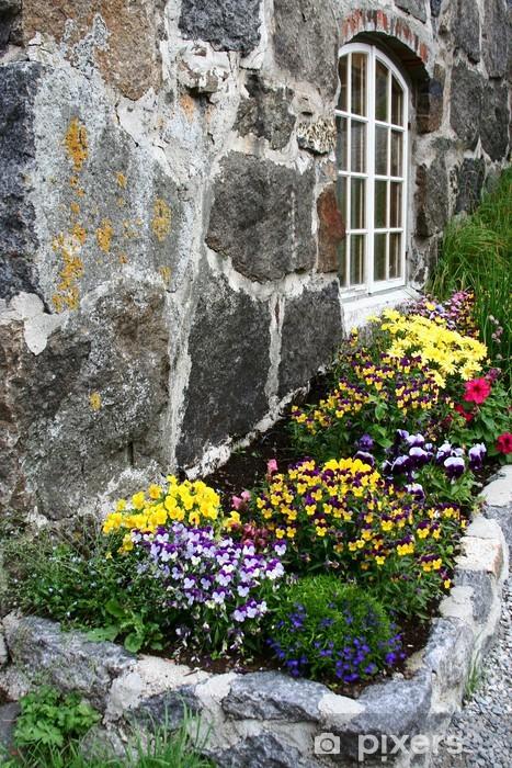 bac à fleur en norvège Vinyl Wall Mural - Home and Garden